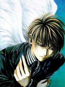 Rating: Safe Score: 3 Tags: angel angel_sanctuary business_suit male mudou_setsuna wings yuki_kaori User: oldwrench