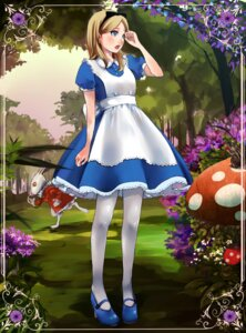 Rating: Safe Score: 27 Tags: alice alice_in_wonderland dress pantyhose shigureteki white_rabbit User: Riven