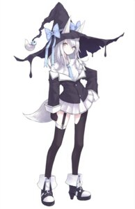 Rating: Safe Score: 27 Tags: animal_ears cre7 heels heterochromia kitsune stockings tail thighhighs witch User: sym455