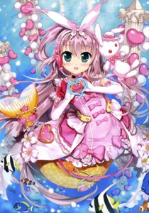 Rating: Safe Score: 52 Tags: cardfight_vanguard dress fujima_takuya headphones mermaid monster_girl tail User: drop