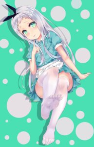 Rating: Safe Score: 29 Tags: blend_s feet kanzaki_hideri maid mikawa_sansen thighhighs trap waitress User: Mr_GT