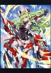 Rating: Questionable Score: 27 Tags: 2d armor leotard mecha_musume possible_duplicate ragnastrike_angels tagme thighhighs weapon User: kiyoe