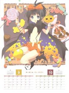 Rating: Questionable Score: 22 Tags: calendar hakkaya halloween kunihiro_hajime loli nopan saki thighhighs tokumi_yuiko User: 乐舞纤尘醉华音