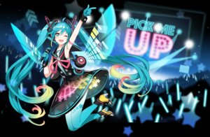 Rating: Safe Score: 20 Tags: hatsune_miku headphones heels pantyhose verus vocaloid User: fairyren