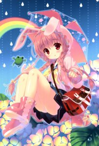 Rating: Safe Score: 80 Tags: animal_ears bunny_ears pantsu santa_matsuri seifuku umbrella User: SweetLemonade