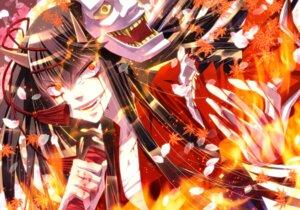 Rating: Safe Score: 7 Tags: blood horns open_shirt sarashi shijuuhachi sword User: charunetra