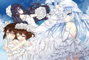 Rating: Safe Score: 45 Tags: akatsuki_(kancolle) dress hibiki_(kancolle) ikazuchi_(kancolle) inazuma_(kancolle) kantai_collection saru wedding_dress User: tbchyu001