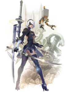 Rating: Questionable Score: 39 Tags: ass dress heels kawano_takuji skirt_lift soul_calibur soul_calibur_vi sword thighhighs yorha_no.2_type_b User: Yokaiou