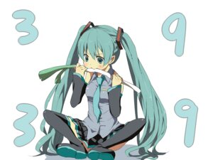 Rating: Safe Score: 9 Tags: hadaarennjared hatsune_miku thighhighs vocaloid User: Radioactive