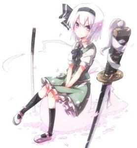 Rating: Safe Score: 46 Tags: konpaku_youmu myon shirofox sword touhou User: Nekotsúh