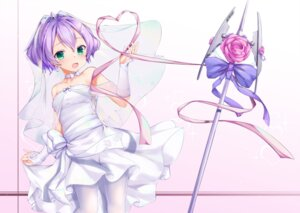 Rating: Safe Score: 17 Tags: azur_lane dress javelin_(azur_lane) pantyhose shimo_(shimo332215) weapon wedding_dress User: BattlequeenYume