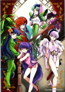 Rating: Safe Score: 5 Tags: armor asian_clothes chinadress garter leotard pointy_ears ranma_½ saotome_ranma shampoo sword tagme wings User: Radioactive