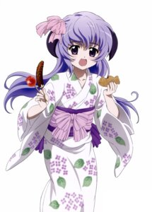 Rating: Safe Score: 24 Tags: hanyuu higurashi_no_naku_koro_ni horns sakai_kyuuta yukata User: Radioactive