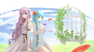 Rating: Safe Score: 21 Tags: dress hatsune_miku megurine_luka ohjin vocaloid User: Mr_GT