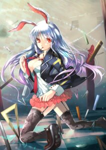 Rating: Safe Score: 38 Tags: animal_ears bunny_ears cleavage fuyouchu open_shirt reisen_udongein_inaba stockings thighhighs touhou User: Mr_GT