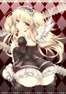 Rating: Questionable Score: 72 Tags: ass boku_wa_tomodachi_ga_sukunai hasegawa_kobato heterochromia pantyhose wings yunchaso User: SubaruSumeragi