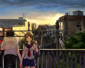 Rating: Safe Score: 27 Tags: iroha_(shiki) landscape seifuku User: gnarf1975