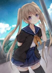 Rating: Safe Score: 79 Tags: ao_no_kanata_no_four_rhythm arisaka_mashiro chamirai seifuku thighhighs User: nphuongsun93