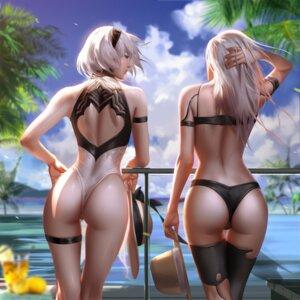 Rating: Questionable Score: 73 Tags: ass bikini garter liang_xing mecha_musume nier_automata swimsuits thighhighs thong yorha_no.2_type_b yorha_type_a_no._2 User: BattlequeenYume