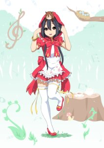 Rating: Safe Score: 48 Tags: cosplay heels k-on! little_red_riding_hood_(character) nakano_azusa oku_no_shi thighhighs User: Mr_GT