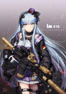 Rating: Questionable Score: 21 Tags: baek_hyang garter girls_frontline gun hk416_(girls_frontline) User: yanis