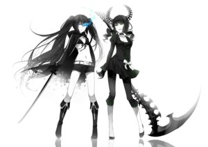 Rating: Safe Score: 35 Tags: bikini_top black_rock_shooter black_rock_shooter_(character) dead_master rella sword vocaloid User: Radioactive