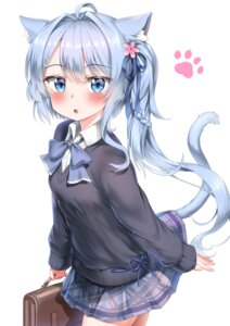 Rating: Questionable Score: 45 Tags: animal_ears nedia_r nekomimi seifuku sweater tail User: Mr_GT