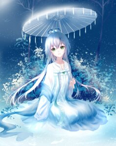 Rating: Safe Score: 43 Tags: asian_clothes luo_tianyi umbrella vocaloid yaduo User: charunetra