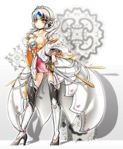 Rating: Safe Score: 42 Tags: cleavage elsword eve_(elsword) poseich thighhighs User: fairyren