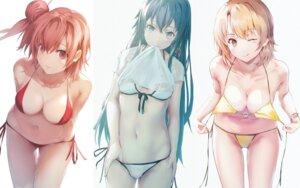 Rating: Questionable Score: 38 Tags: aotsuki_kaoru bikini cleavage isshiki_iroha panty_pull see_through shirt_lift swimsuits undressing wet_clothes yahari_ore_no_seishun_lovecome_wa_machigatteiru. yuigahama_yui yukinoshita_yukino User: Spidey