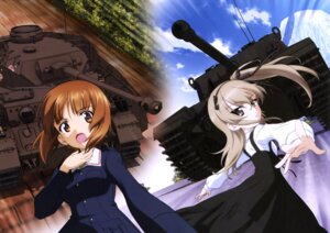 Rating: Safe Score: 7 Tags: dress girls_und_panzer gothic_lolita lolita_fashion nishizumi_miho shimada_arisu uniform User: drop