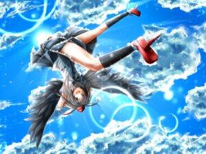 Rating: Safe Score: 23 Tags: asano_tomoya shameimaru_aya touhou wings User: fairyren