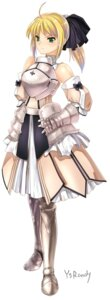 Rating: Safe Score: 22 Tags: armor fate/stay_night fate/unlimited_codes saber saber_lily ysrandy User: Sanderu