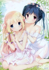 Rating: Safe Score: 128 Tags: cleavage dress koi_kakeru_shin-ai_kanojo komari_yui kunimi_nako no_bra see_through shiratama summer_dress us:track User: Hatsukoi