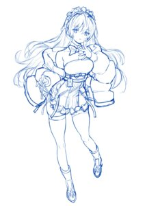 Rating: Questionable Score: 14 Tags: heels maid saitom sketch thighhighs User: Radioactive