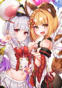 Rating: Questionable Score: 27 Tags: animal_ears granblue_fantasy hyouta_(yoneya) japanese_clothes pantyhose tail vajra_(granblue_fantasy) vikala_(granblue_fantasy) User: yanis