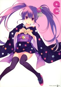 Rating: Questionable Score: 27 Tags: ohara_tometa pantsu paper_texture qp:flapper thighhighs User: admin2