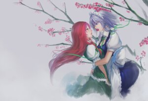 Rating: Safe Score: 19 Tags: hong_meiling izayoi_sakuya symmetrical_docking touhou youyi yuri User: Radioactive