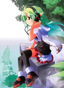 Rating: Safe Score: 9 Tags: alfa_yuhi elf headphones pointy_ears thighhighs User: Radioactive
