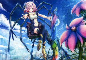 Rating: Safe Score: 55 Tags: heels monster_girl pointy_ears tattoo tenmaso thighhighs weapon User: Twinsenzw