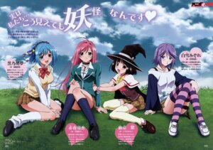 Rating: Safe Score: 20 Tags: akashiya_moka kurono_kurumu rosario_+_vampire seifuku sendo_yukari shirayuki_mizore stockings thighhighs witch User: InformationHigh