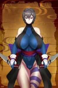 Rating: Questionable Score: 9 Tags: cameltoe erect_nipples hero_(do-belman) heterochromia japanese_clothes samurai_spirits shiki_(samurai_spirits) tattoo weapon User: Werewolverine4