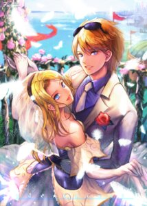 Rating: Safe Score: 16 Tags: bibiko dress ezreal league_of_legends luxanna_crownguard megane wedding_dress User: charunetra