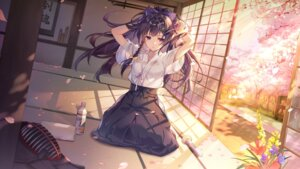 Rating: Safe Score: 61 Tags: benghuai_xueyuan ekita_xuan honkai_impact japanese_clothes raiden_mei see_through sword wallpaper wet_clothes User: Dreista