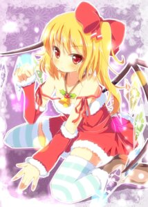 Rating: Safe Score: 19 Tags: christmas flandre_scarlet thighhighs touhou wings yuimari User: 椎名深夏