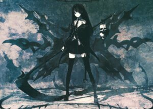 Rating: Safe Score: 6 Tags: black_rock_shooter crease death_scythe huke thighhighs vocaloid User: Radioactive