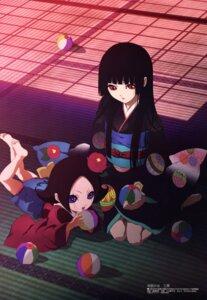 Rating: Safe Score: 23 Tags: enma_ai feet iizuka_haruko jigoku_shoujo jigoku_shoujo_mitsuganae kikuri kimono User: vita