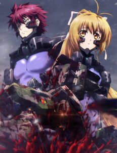 Rating: Questionable Score: 24 Tags: blood bodysuit katia_waldheim muvluv schwarzesmarken theodor_eberbach User: drop