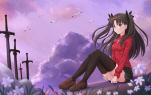 Rating: Questionable Score: 36 Tags: fate/kaleid_liner_prisma_illya fate/stay_night fate/stay_night_unlimited_blade_works fate/zero kazenokaze sword thighhighs toosaka_rin User: sylver650