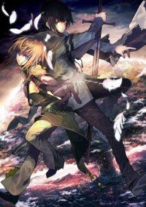 Rating: Safe Score: 27 Tags: aikawa_kanami armor diablo_sith isekai_meikyuu_no_saishinbu_wo_mezasou sword ukai_saki User: SubaruSumeragi